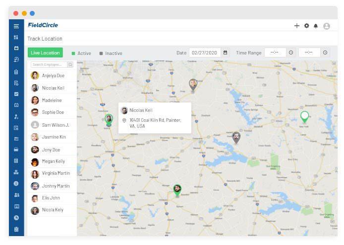 Visit management & location tracking